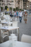 Cafe tables Royalty Free Stock Image