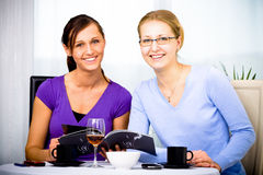 Cafe talk Royalty Free Stock Images