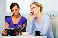 Cafe talk Royalty Free Stock Photography