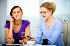 Cafe talk Stock Image