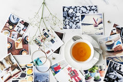 Cafe Tea Time Break Relaxation Photography Concept Royalty Free Stock Images