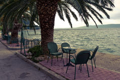 Cafe by teh Adriatic Sea Royalty Free Stock Images