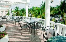 Cafe terrace royalty free stock photo