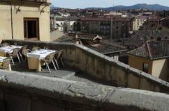 A cafe on the terrace Stock Photos