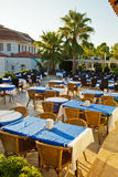 Cafe terrace at a hotel Stock Photography