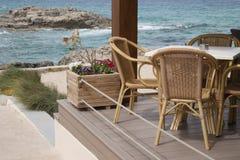 Cafe Terrace, Ibiza Royalty Free Stock Photo