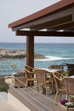Cafe Terrace, Ibiza, Spain Stock Photography