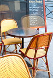 Cafe terrace in paris Royalty Free Stock Photography