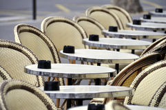 Cafe terrace in Paris Stock Photo