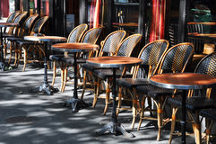 Cafe terrace in Paris. Typical cafe terrace in Paris Stock Photo