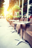 Cafe terrace in summer Paris Stock Photography