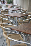 Cafe Terrace Table and Chairs, Berlin Royalty Free Stock Photography