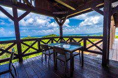 Cafe on top of the hill at the Ishigaki Island of Okinawa Royalty Free Stock Photos