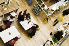 Cafe, top view Royalty Free Stock Image