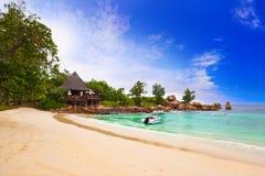 Cafe on tropical beach Stock Photo
