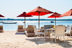 Cafe on a tropical beach Stock Photography