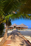 Cafe on tropical Maldives island Stock Images