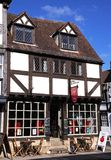 Cafe in Tudor building, Tewkesbury. Stock Images