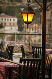 Cafe on the Turkish coast Royalty Free Stock Photography