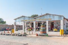 Cafe and tyre shop in Kamanjab, Kunene Region of Namibia Royalty Free Stock Images
