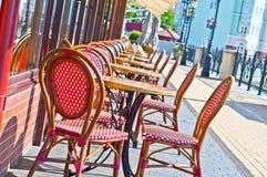 cafe utanför Royaltyfri Bild