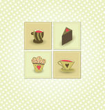Cafe Vector Background Royalty Free Stock Images