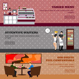 Cafe vector illustration. Design of coffee shop, bakery, restaurant and bar. Stock Image