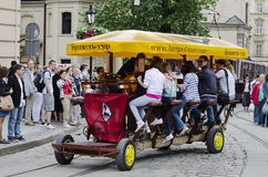Cafe-velomobile Royalty Free Stock Photography