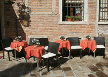 Cafe in Venice. Cafe on the little street of Venice Stock Photography