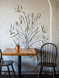 Cafe wall Stock Image