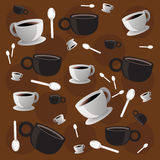 Cafe Wallpaper Stock Image