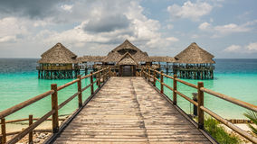 Cafe on water in Zanzibar, Tanzania Stock Photography