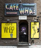 Cafe Wha. In New York City's Greenwich Village Stock Photo