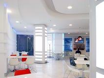 cafe white Obrazy Stock