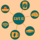 Cafe is stock illustration