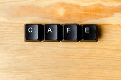 Cafe word. With keyboard buttons Stock Photography