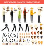 Cafe Worker Character Icon Set Royalty Free Stock Photos