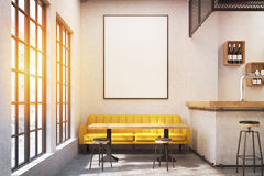 Cafe with a yellow sofa, toned Stock Photo