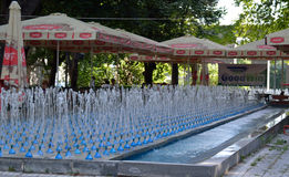 Cafe in Yerevan. Cafe next to 2750 fountains in Yerevan Stock Photo