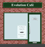cafeevolution vektor illustrationer