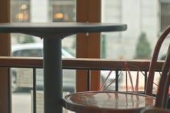 Cafefönsterplats Fotografering för Bildbyråer