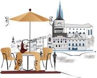 cafegata Vektor Illustrationer