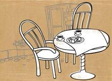 cafegata stock illustrationer