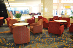 cafehotellvardagsrum Arkivfoto
