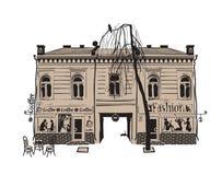 cafehus Arkivbilder