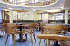 cafeinteriorfoto Fotografering för Bildbyråer