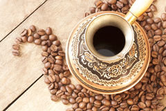 cafekopparkornturks Royaltyfri Foto