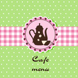 cafemenymall Royaltyfri Fotografi
