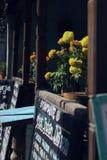 cafen shoppar royaltyfria bilder