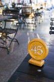 cafenummertabell Fotografering för Bildbyråer